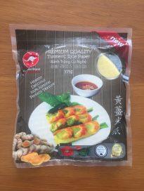 Turmeric rice paper