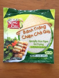 Specialty rice paper for frying