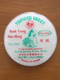 tapioca sheet