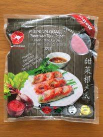 Beetroot ricepaper