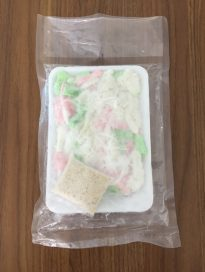 Frozen tapioca cake w/coconut (Bánh Tằm Mì Dừa)