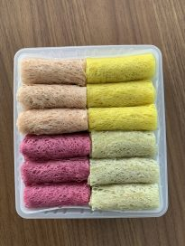 Natural Coloured Net Spring Rolls, Variety